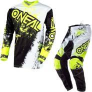Костюм Oneal Element Impact 2020 Motocross SUIT White / NEON XXL/38