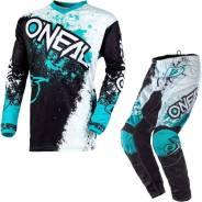 Костюм Oneal Element Impact 2020 Motocross SUIT White / TEAL M/32