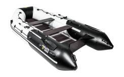Надувная лодка ПВХ, Ривьера Максима 3600 СК Комби, светло-серый/черный
