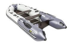 Надувная лодка ПВХ, Ривьера Компакт 3600 СК Комби, светло-серый/графит