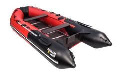 Надувная лодка ПВХ, Ривьера Компакт 3600 СК Комби, красный/черный