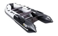 Надувная лодка ПВХ, Ривьера Компакт 3600 СК Комби, светло-серый/черный