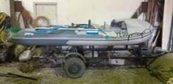 Лодка без мотора, тент телега, 2 жилета