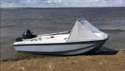 Продам пластиковую лодку с мотором Кайман-350