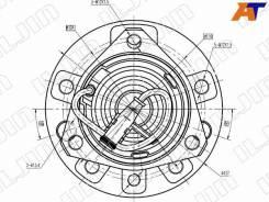 Ступичный узел OPEL Astra, OPEL Astra H 04-10, OPEL Zafira, OPEL Zafira B 05-11 IJ133022