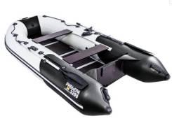 Лодка ПВХ Ривьера 3200 СК (Цвет комби черно/светло-серая)