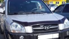 Дефлектор капота (мухобойка) Hyundai Tucson 04-10