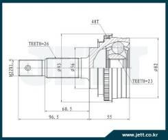 ШРУС внешний JETT V41-9021 с кольцом ABS