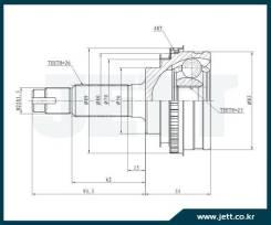 ШРУС внешний JETT V41-9006 с кольцом ABS
