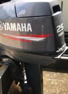 Лодочный мотор Yamaha 25 CV, нога короткая, из Японии, румпель