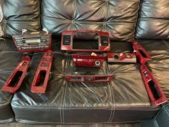 Магнитола, часы, пепельница, стеклоподъёмники красное дерево JZX110