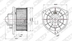 Мотор отопителя салона Mitsubishi Lancer 00- / Airtrek / Outlander 01-