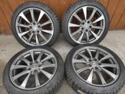Комплект литых колес Zina 225/45R-18 c зимней резиной Bridgestone