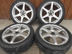 Комплект литых колес Weds Leonis 215/45R-17 c летней резиной Dunlop