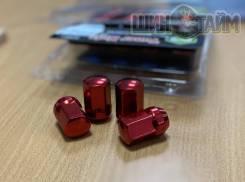 Новые гайки 12х1,5 красные 20шт