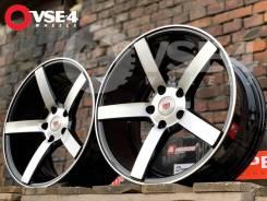 NEW! Вогнутые! # Vossen CV3 R17 8J 5x112 Black Polish [VSE-4]