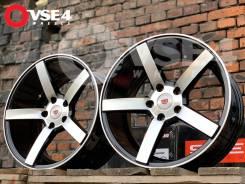 NEW! Вогнутые! # Vossen CV3 R17 8J 5x100 Black Polish [VSE-4]