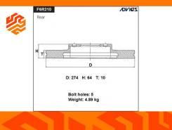 Диск тормозной Advics F6R210B задний (Япония)