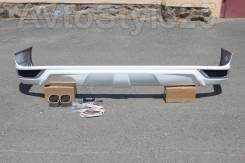 Губа задняя Land Cruiser 200, 2016+ дизайн Modellista , белый перламутр