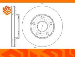Диск тормозной вентилируемый G-Brake GR02072 передний