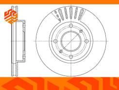 Диск тормозной вентилируемый G-Brake GR20004 передний