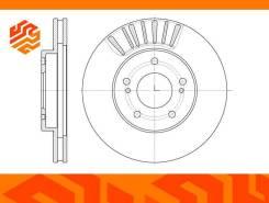 Диск тормозной вентилируемый G-Brake GR02672 передний