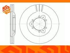 Диск тормозной вентилируемый G-Brake GR02230 передний