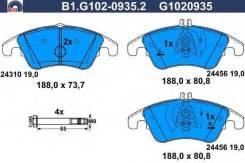Колодки тормозные дисковые, Mercedes-Benz Galfer B1G10209352