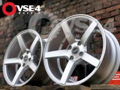 NEW! Вогнутые! # Vossen CV3 R15 7J 4x100 Silver Polish [VSE-4]