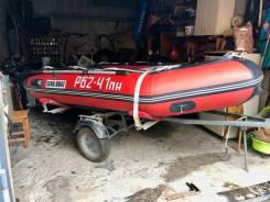 Надувная корейская лодка с мотором