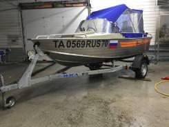Лодка Wellboat 46M и мотор Tohatsu 30