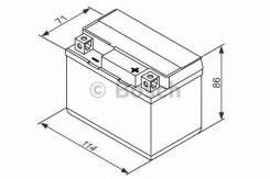 Аккумулятор для мототехники Bosch MOBA AGM M6 12V 3AH 30A (YT4L-4/YT4L-BS) 114x71x86mm 1.7kg Bosch 0092M60010
