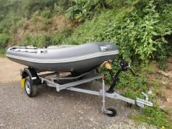 Лодка ПВХ Кайман 400 с телегой и мотором