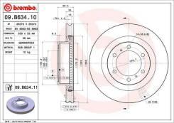Диск тормозной Brembo 09. B634.11