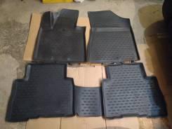 """Резиновые коврики в салон фирмы """"Новлайн"""" для Kia Sorento XM FL"""