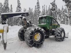 Трелевочный трактор John Deere, В Красноярском крае, 2012