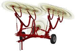 Грабли ворошилки ГВВ - 9 колёс (со средним колесом)