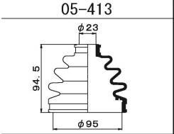 Пыльник ШРУСа наружный Nissan Terrano R50 / Atlas F23 92-02