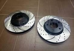 Передние перфорированные диски на Камри 40, 50 Рав 4