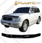 Дефлектор капота Toyota Land Cruiser J100 1998-2007г. Черный