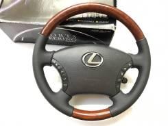 """Руль """"Silk Blaze"""" с утолщением и косточкой под дерево для Lexus"""