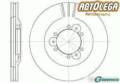 Диск тормозной пер. G-brake Isuzu Bighorn/Trooper 91-02 Opel Frontera
