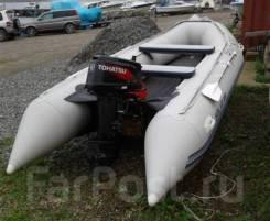 Лодка ПВХ Solar 400 c мотором. Полный комплект.