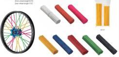 Spoke skin (ПВХ накладки на спицы), набор, красный, Accel (Taiwan)