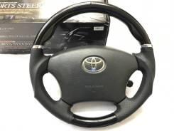 """Анатомический руль """"Silk Blaze"""" с косточкой черный рояльный лак Toyota"""