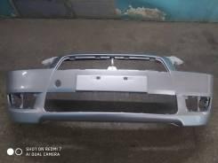 Бампер Mitsubishi Lancer X, новый, серебристый