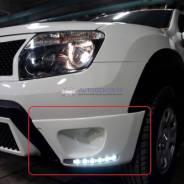 Накладки на ПТФ со встроенными ДХО для Renault Duster (Рено Дастер)