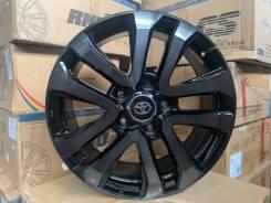Новые диски на Toyota Land Cruiser 200 Excalibur Чёрные