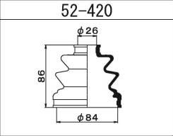 Пыльник ШРУСа внутреннего Maruichi 52-420