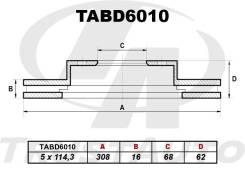 Диск тормозной Trustauto ( TABD6010)